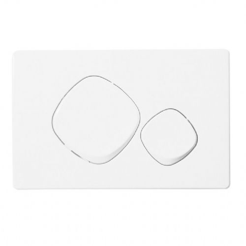 Abacus Easi-Plan Mode Dual Flush Plate - White